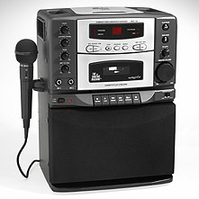 Cheap karaoke machine makes it easy to record your public statement.